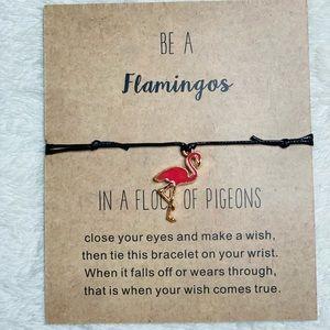 Be a Flamingo adjustable bracelet affirmation bracelet